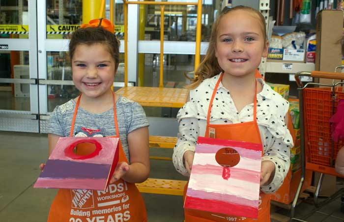 Home Depot Kids Workshop Builds Projects And Families The Gila Herald