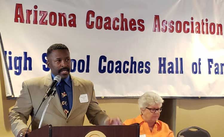 Safford wrestling coach Herman Andrews Jr  inducted into