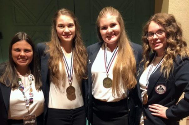 GIFT program has three national winners at HOSA